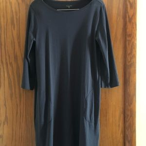 Garnet Hill Cotton Boatneck Sheath Dress, Size 10